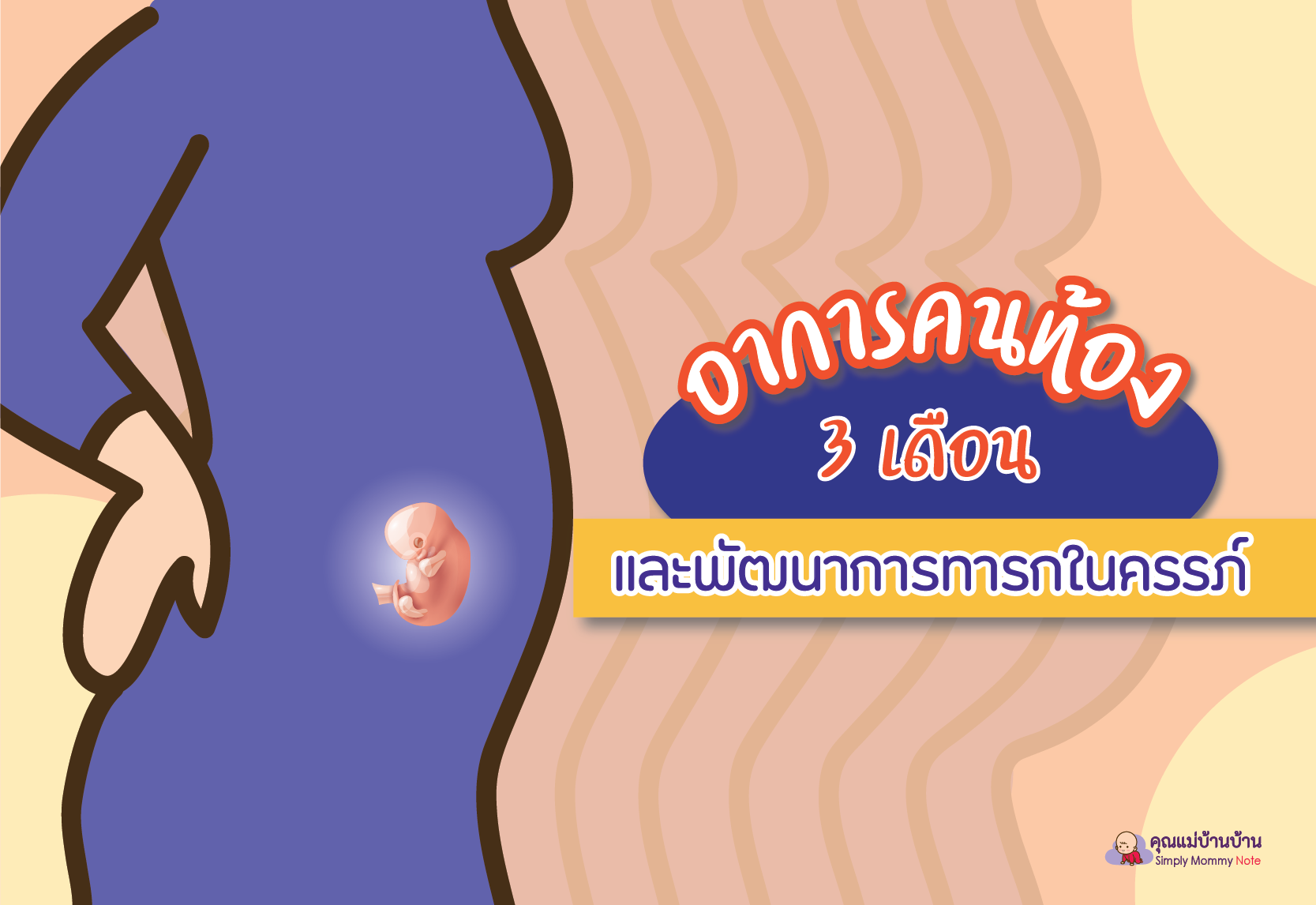 อาการคนท้อง 3 เดือน และพัฒนาการทารกในครรภ์