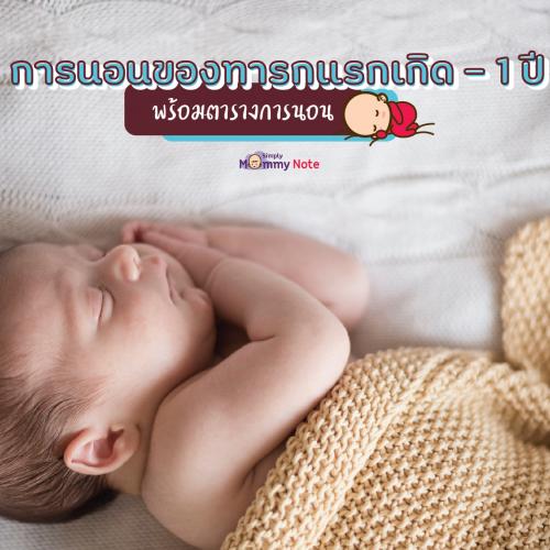 การนอนของทารกแรกเกิด_1-ปี-พร้อมตารางการนอน
