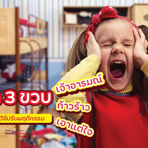 ลูก 3 ขวบเจ้าอารมณ์ ก้าวร้าว เอาแต่ใจ พร้อมวิธีปรับพฤติกรรม